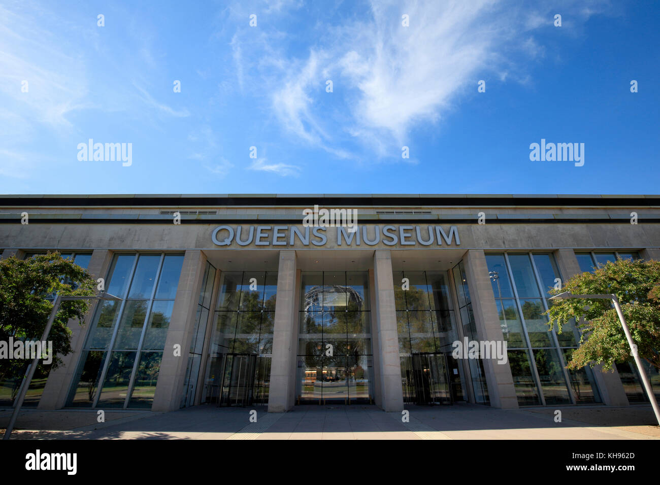 Exterior of the Queens Museum in Flushing Meadows Corona Park, New York City - Stock Image