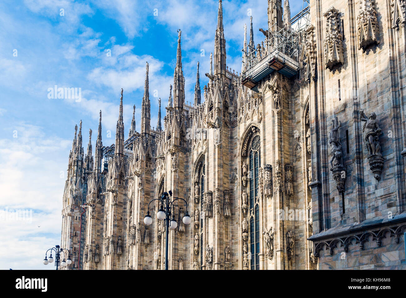Italy. Lombardy. Milan. Milan Cathedral, Duomo di Milano, one of the largest churches in the world - Stock Image
