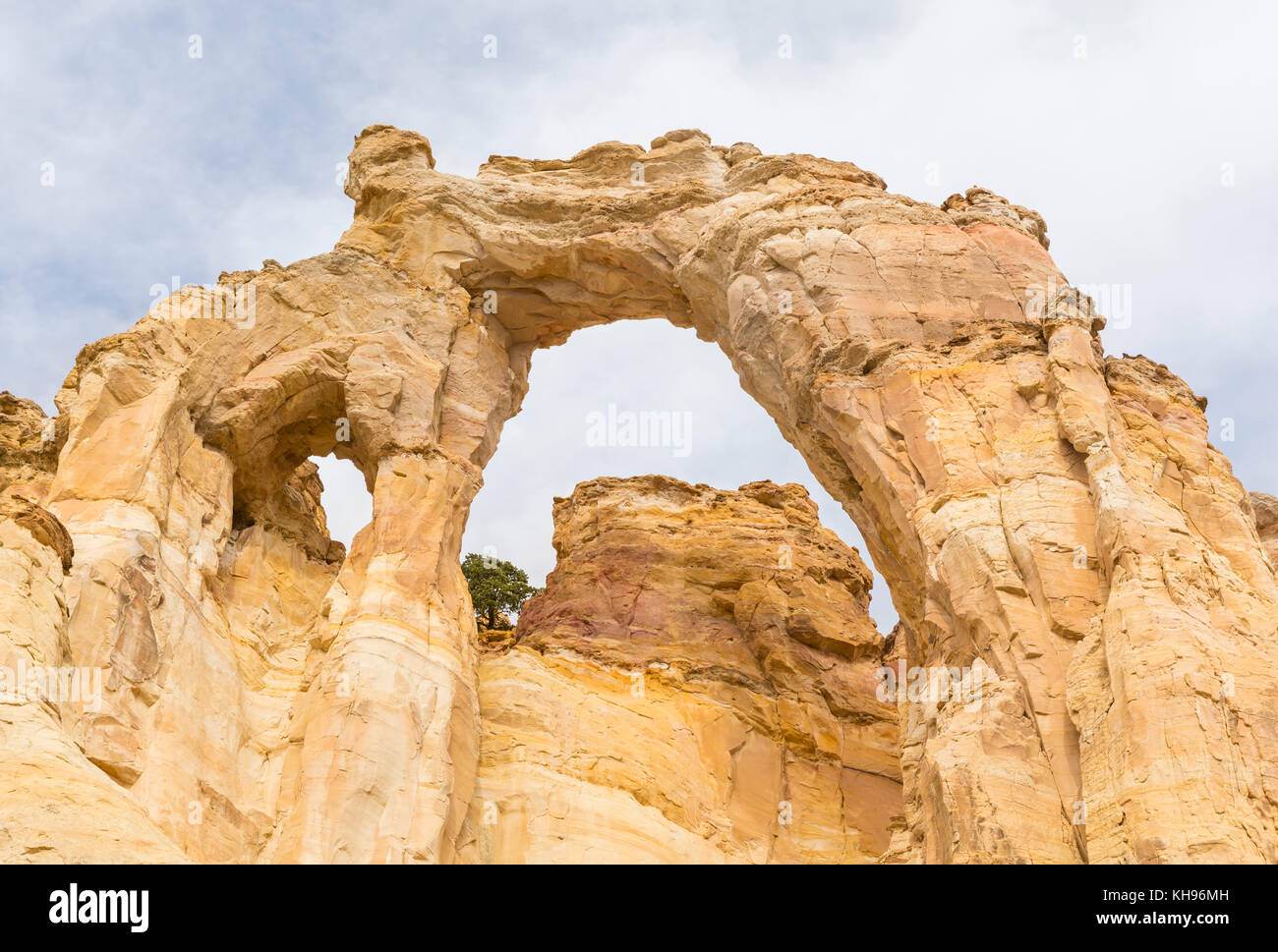 Grosvenor Arch double arch off of Cottonwood Canyon Road in Grand Staircase Escalante National Monument near  Utah. Stock Photo