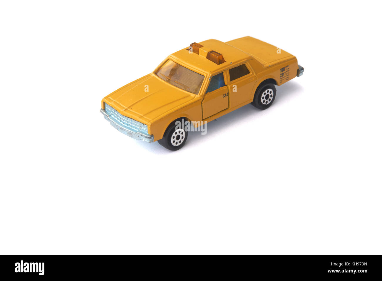 Isolated toy taxi car - Stock Image
