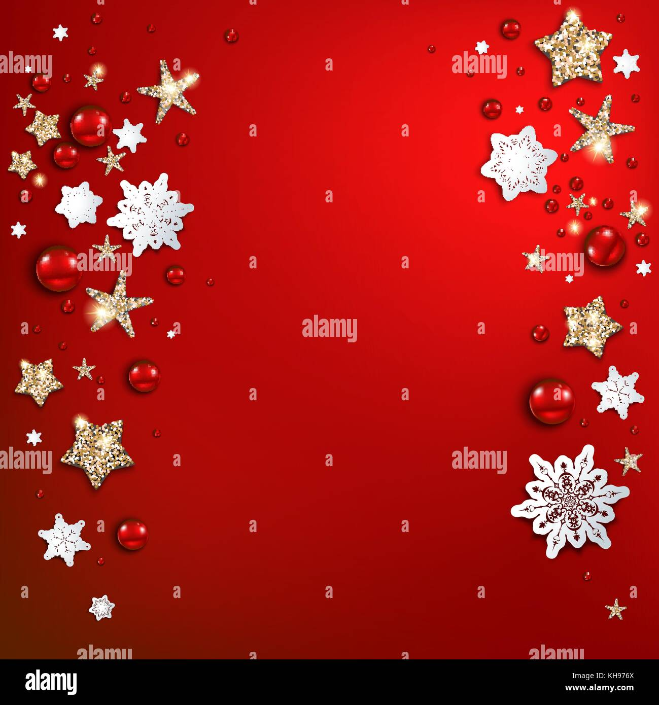 Holiday red christmas background Stock Vector