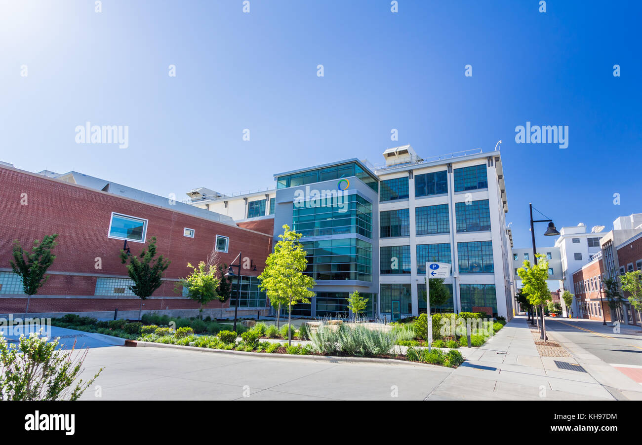 Inmar Corporate Headquarters, part of the Wake Forest Innovation Quarter in downtown Winston-Salem, North Carolina. - Stock Image