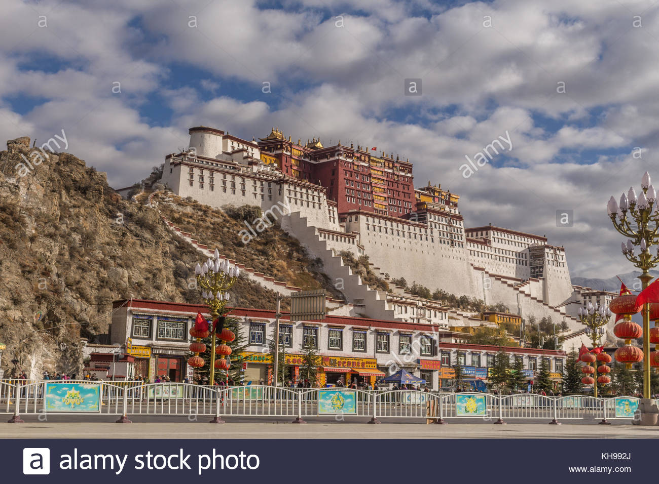 The Potala Palace in Tibet - Stock Image