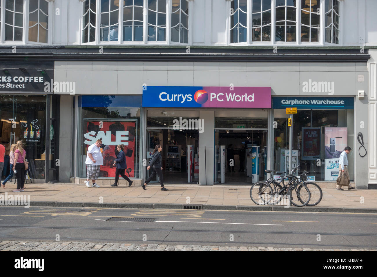 The Retail Store Front Of Currys Pc World And Carphone