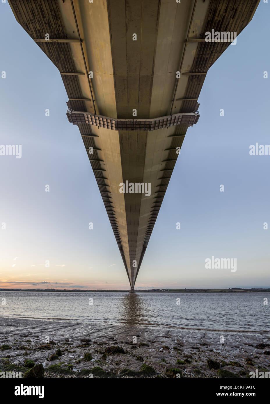 Humber Bridge, Sunrise - Stock Image