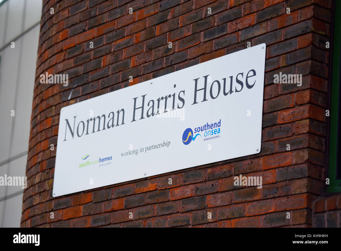 Norman Harris House sheltered housing scheme. South Essex Homes Southend Borough Council accommodation. Space for - Stock Image