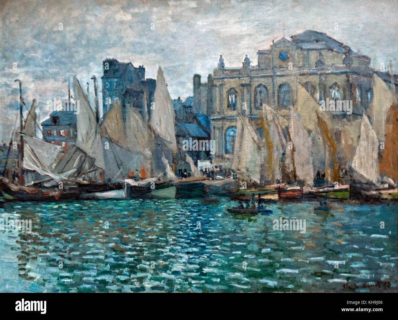 Claude Monet: The Museum at Le Havre (1873) - Stock Image