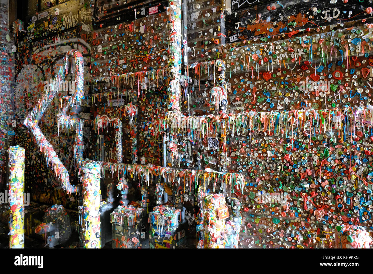 Chewing Gum Alley - Stock Image