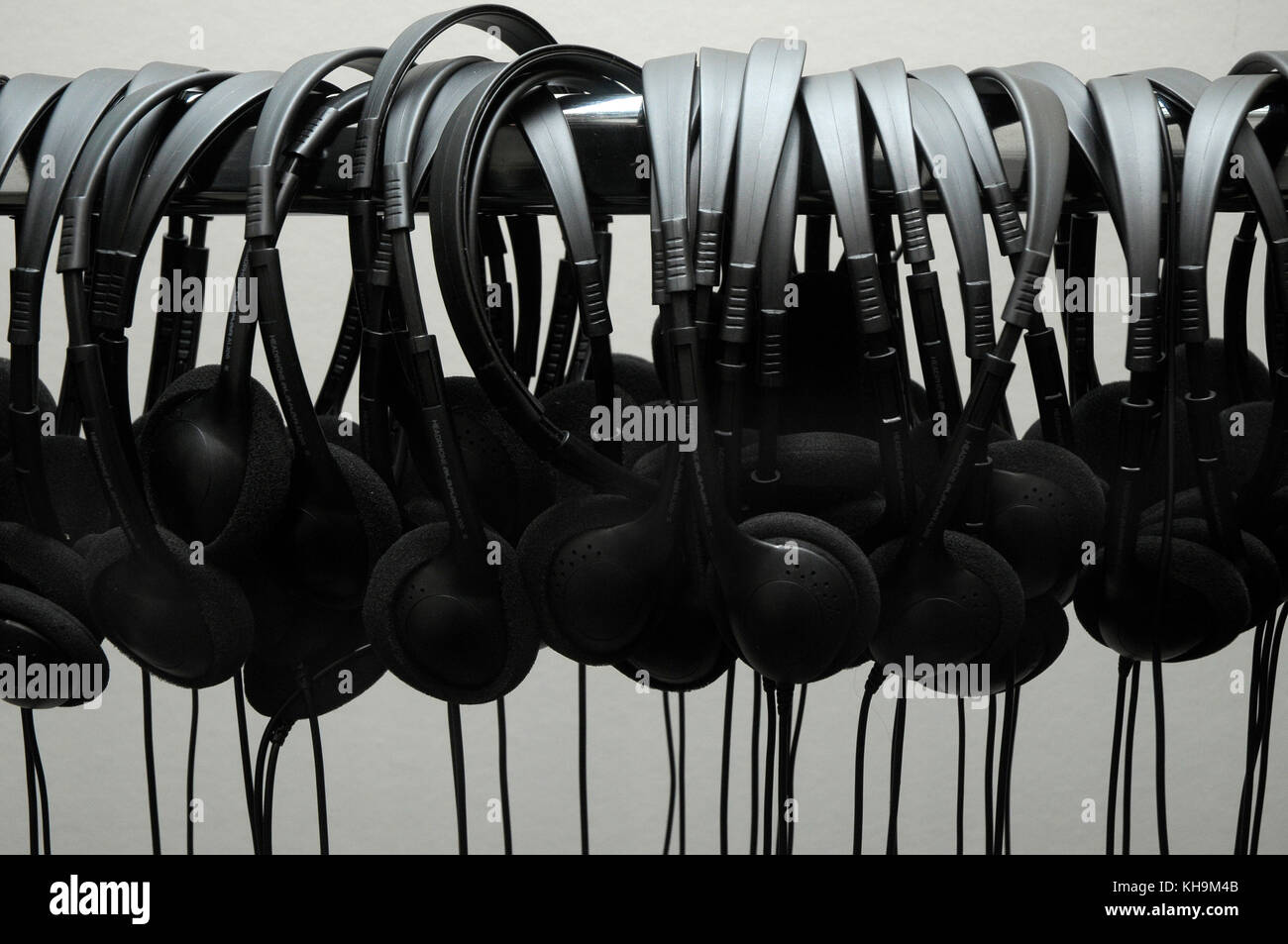 headphones - Stock Image