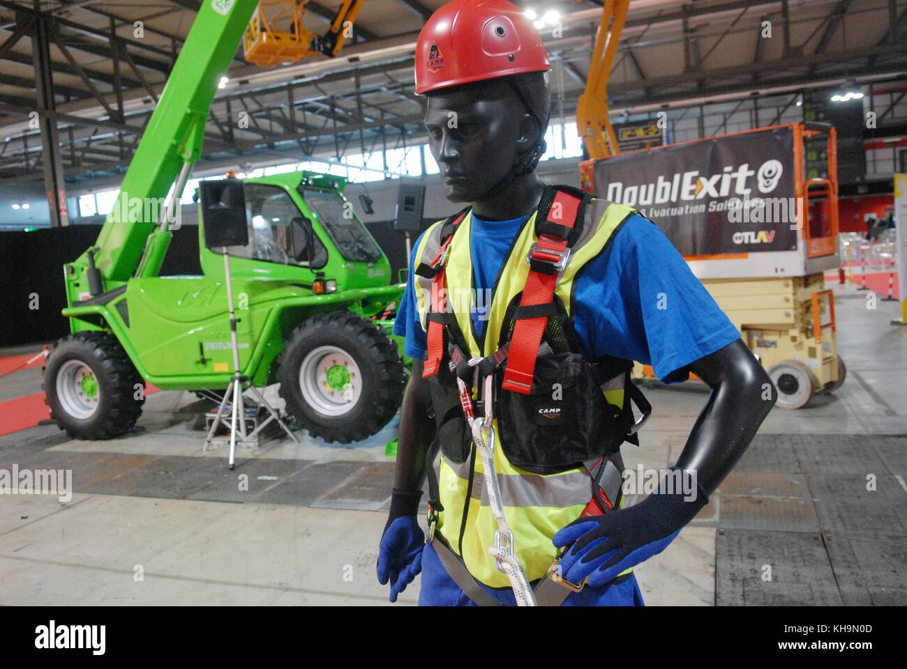Milan (Italy), fair of security and safety, equipments for safety at work - Stock Image