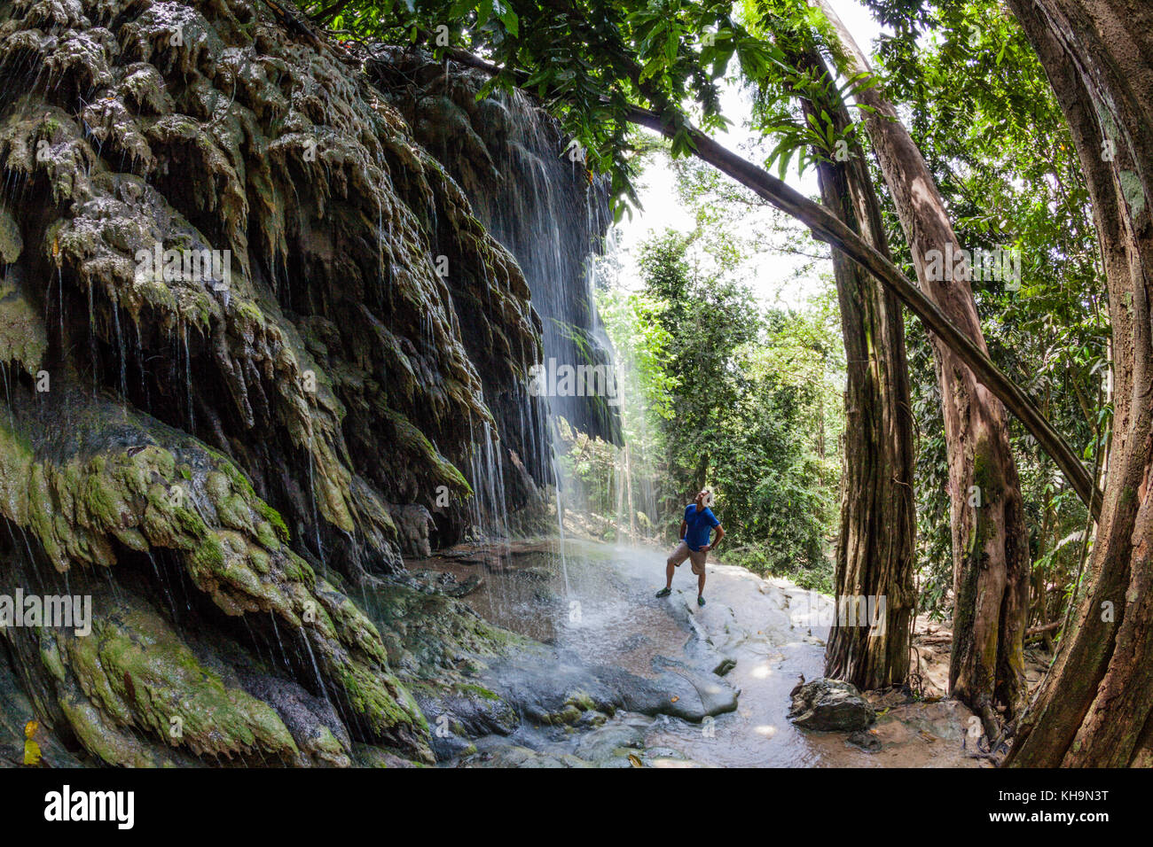 Hughs Dale Waterfall, Christmas Island, Australia - Stock Image