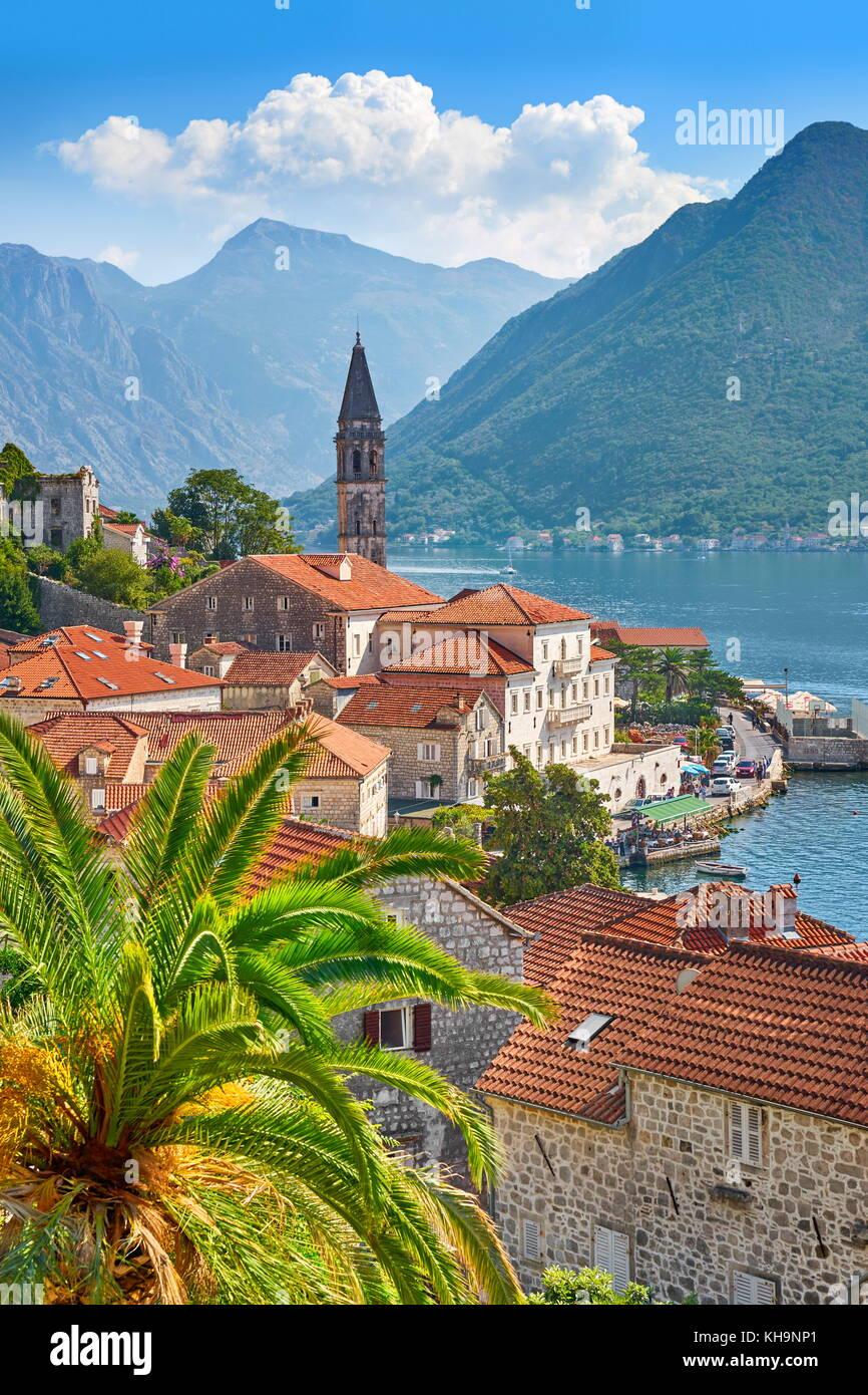 Montenegro, Perast, Kotor Bay Stock Photo