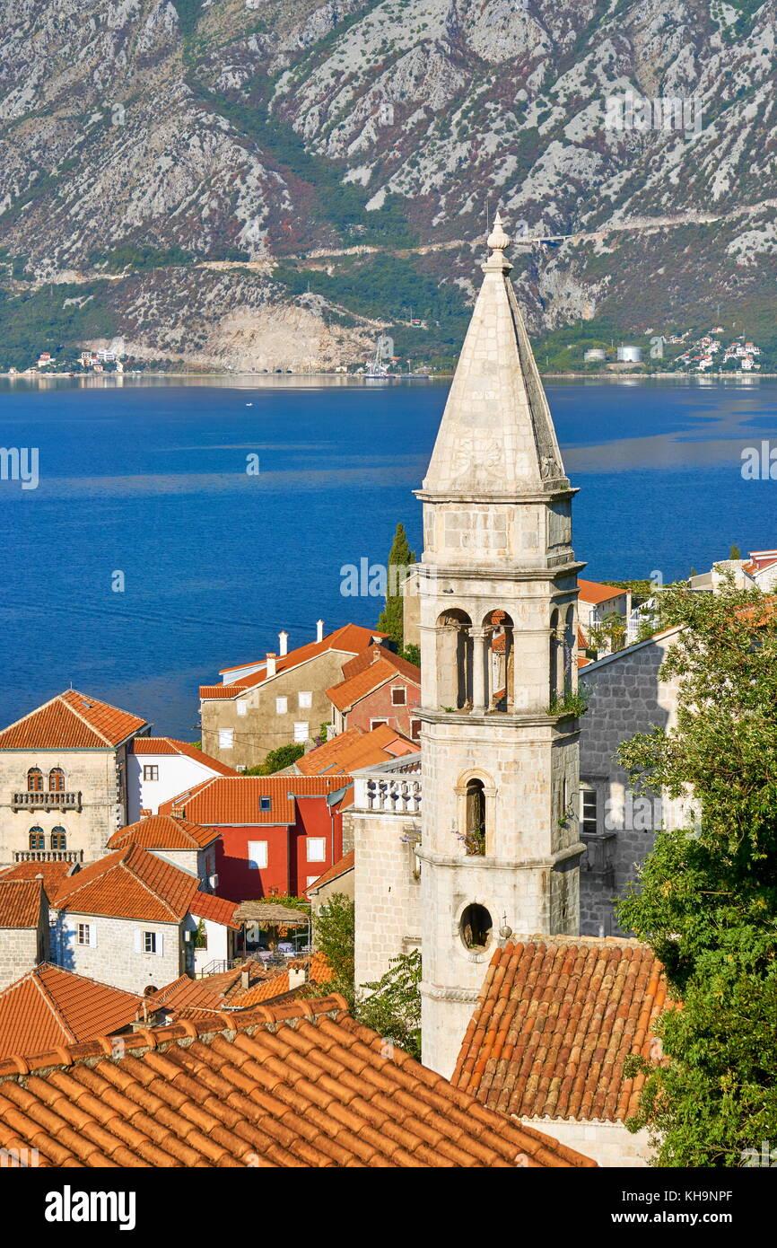 Perast, Kotor Bay, Montenegro Stock Photo