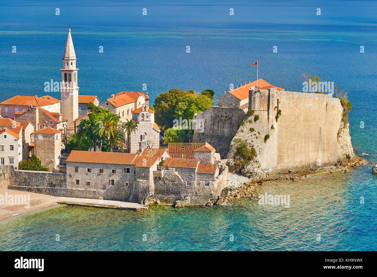 Budva Old Town, Montenegro Stock Photo