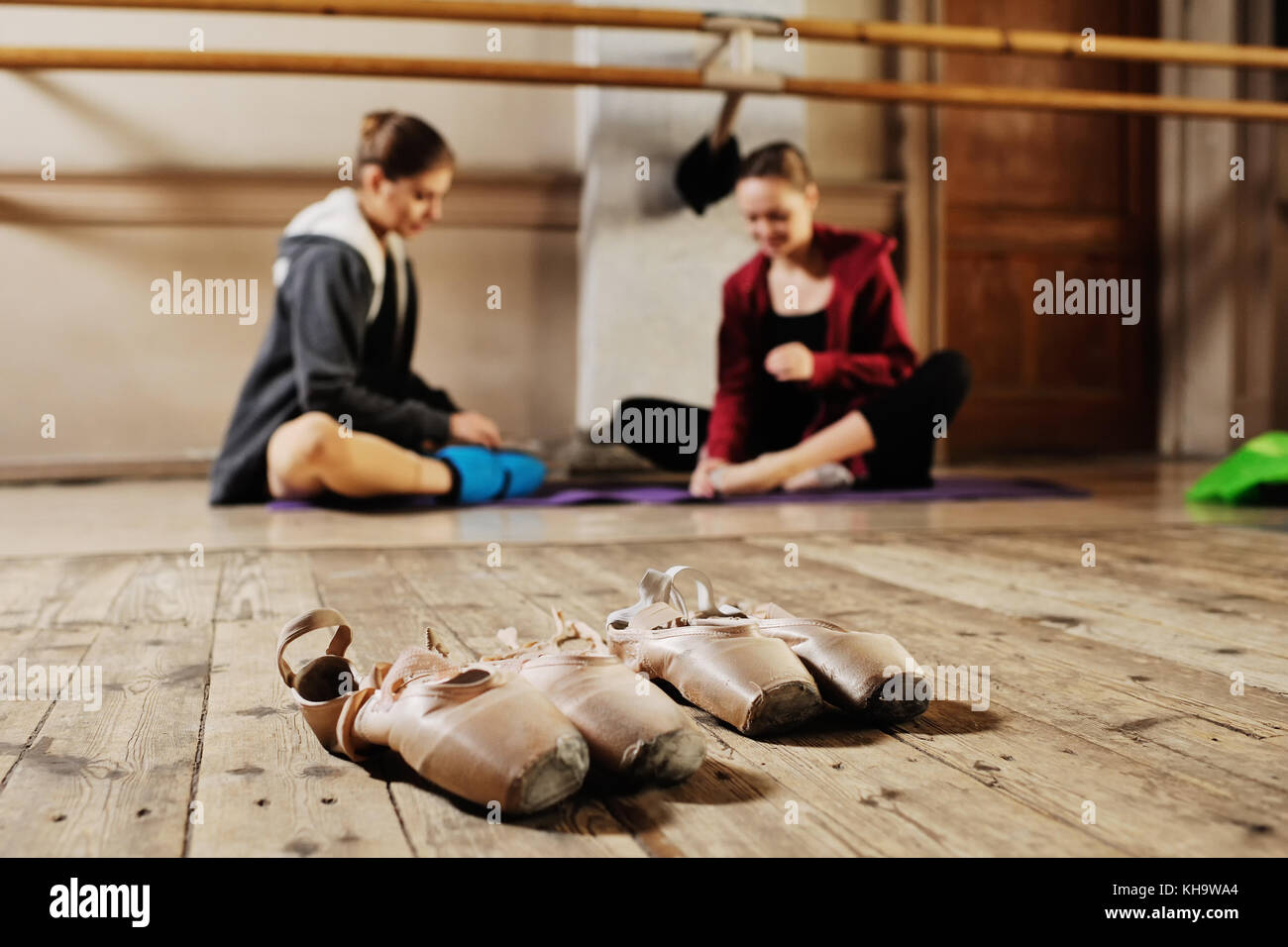 ballerina in rehearsal or training Stock Photo
