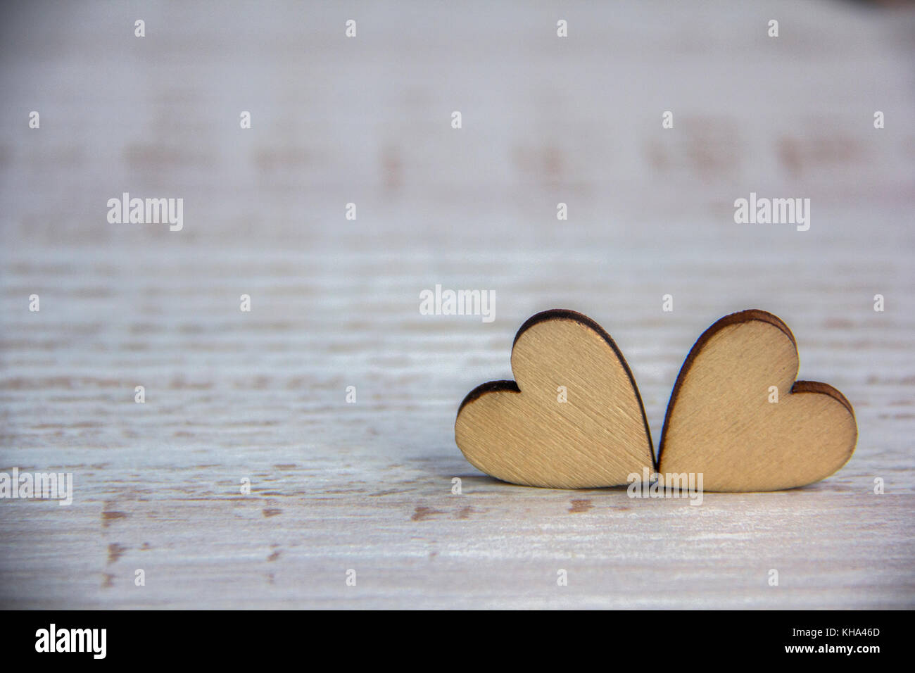 Heart Shape From Natural Tree Wooden Small Hearts On Rustic Wood Table I Love You Theme Concept With For Valentines Background