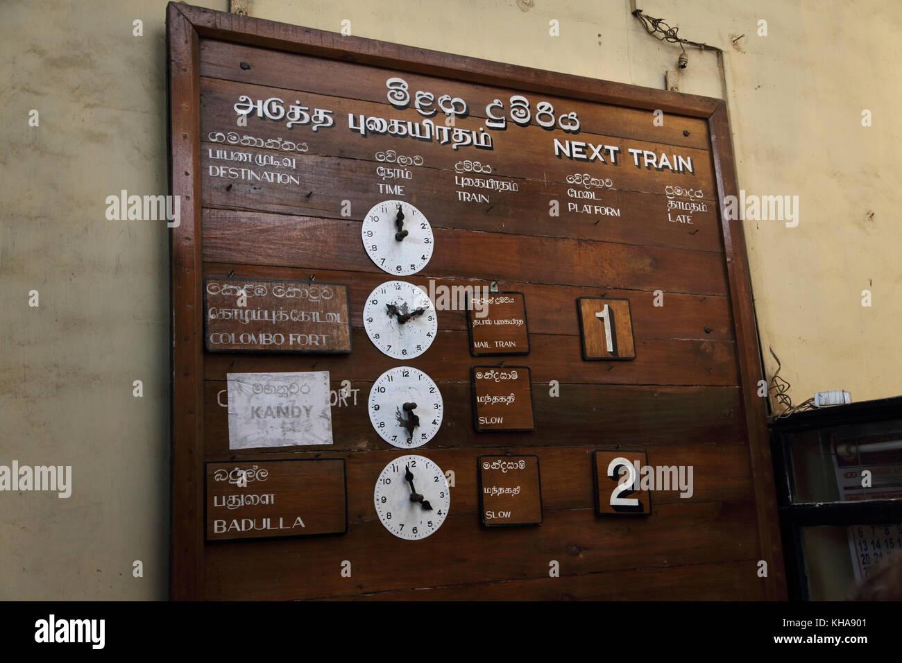 Peradeniya Junction Station Kandy Central Province Sri Lanka Train