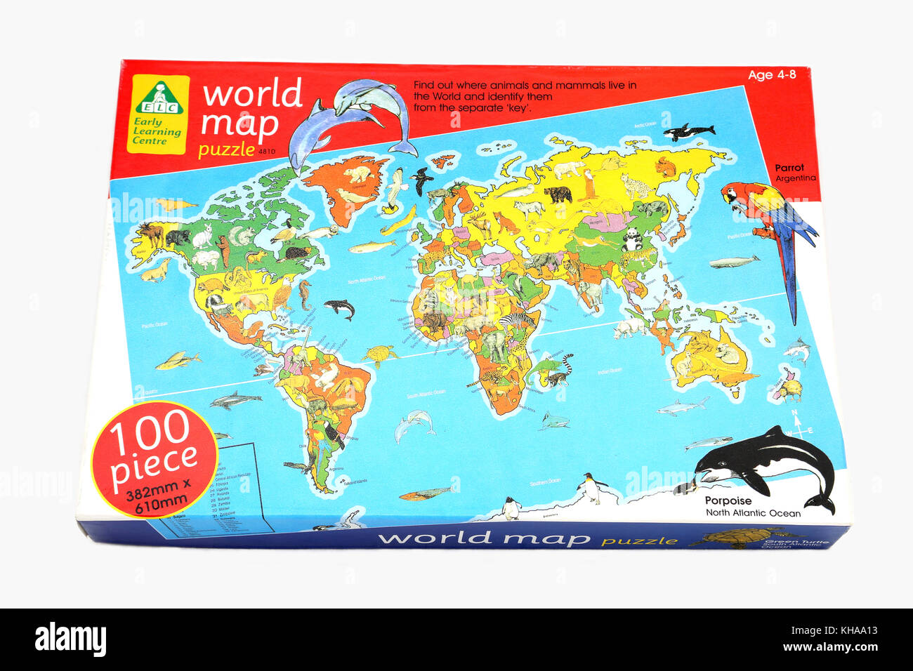 early learning centre world map jigsaw puzzle stock image