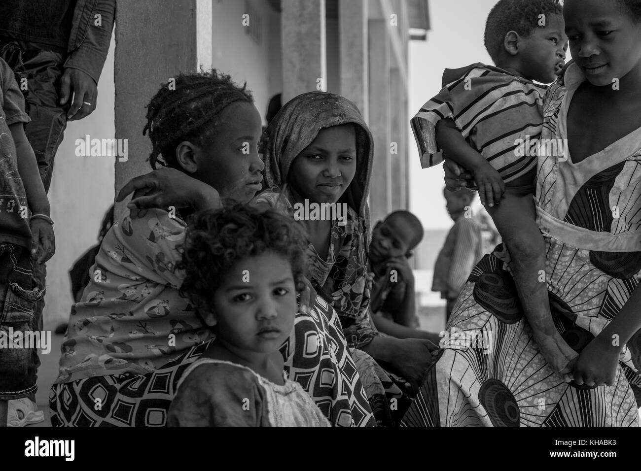 African children with strong expressions on their faces. Taken in Mali. - Stock Image