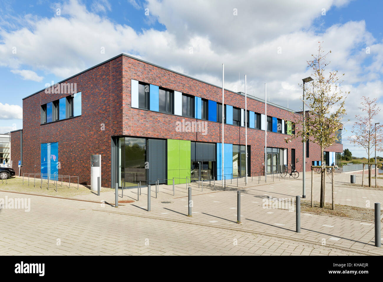 Jade-Hochschule, Campus building of the University of Applied Sciences, Elsfleth, Lower Saxony, Germany - Stock Image