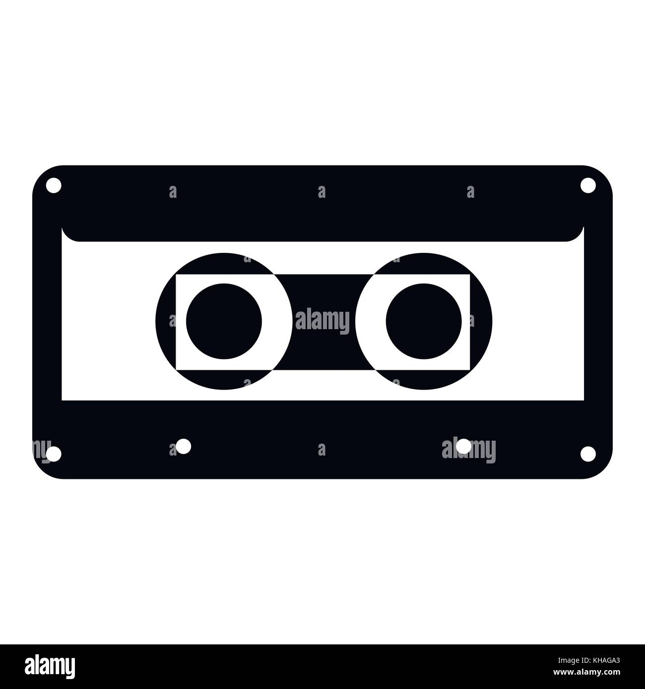 Cassette icon, simple style - Stock Vector