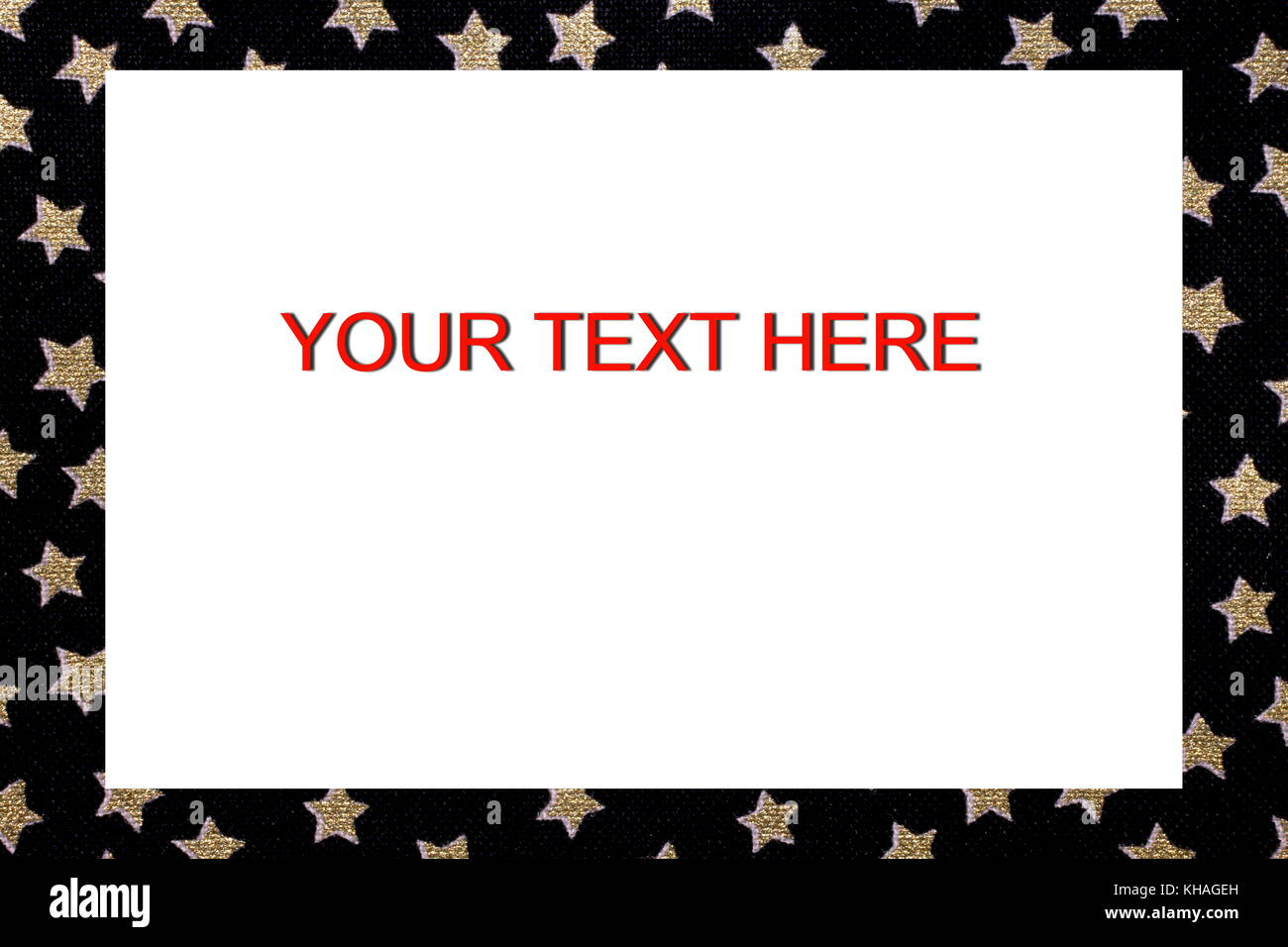 Border Frame With Stellar Designs And Text To Write A Custom Message