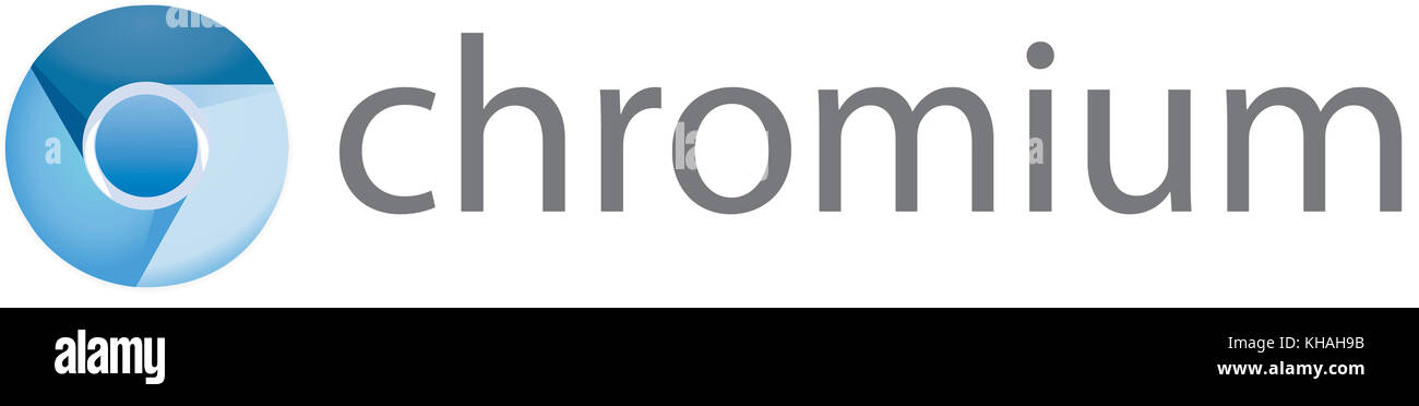 Chromium Logo, Open Source Web Browser from Google - Stock Image
