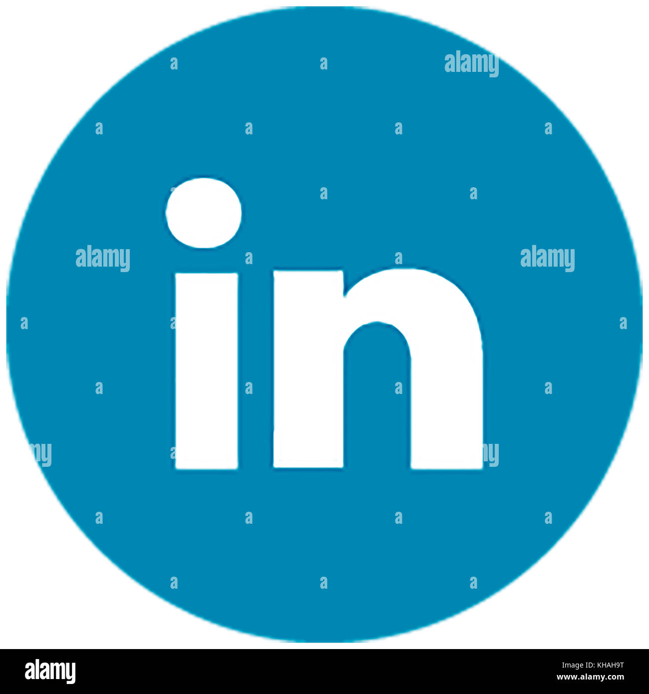 Linked-In Logo, Social Network for Business - Stock Image