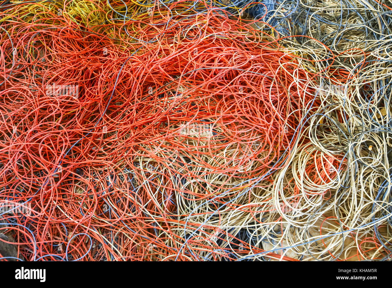 An abstract of colorful fishing net Stock Photo: 165577827 - Alamy