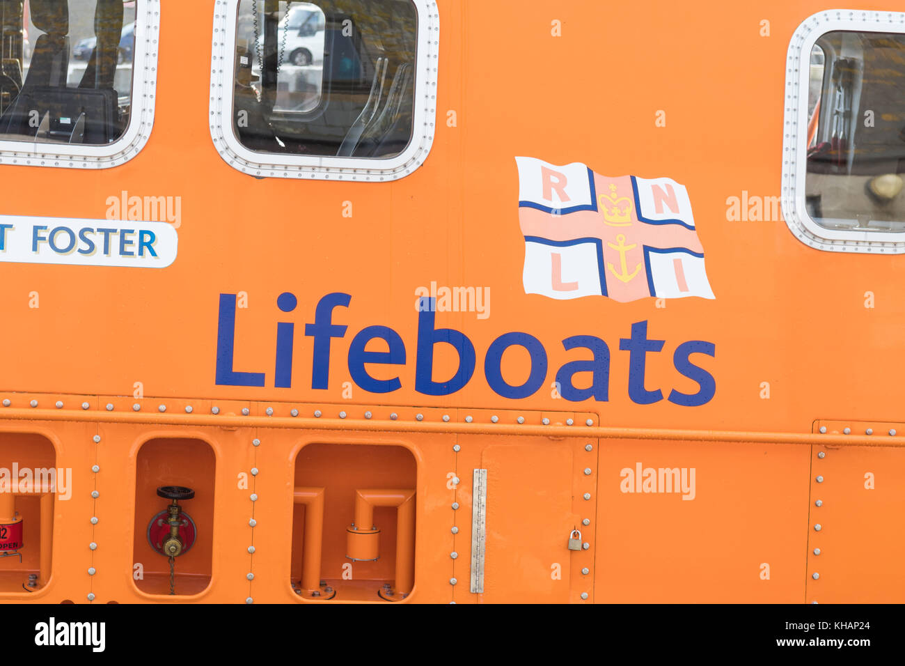 RNLI lifeboats sign and logo - Stock Image