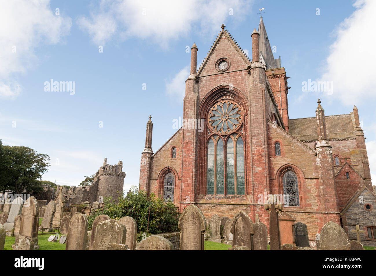 St Magnus Cathedral, Kirkwall, Orkney, Scotland, UK - Stock Image