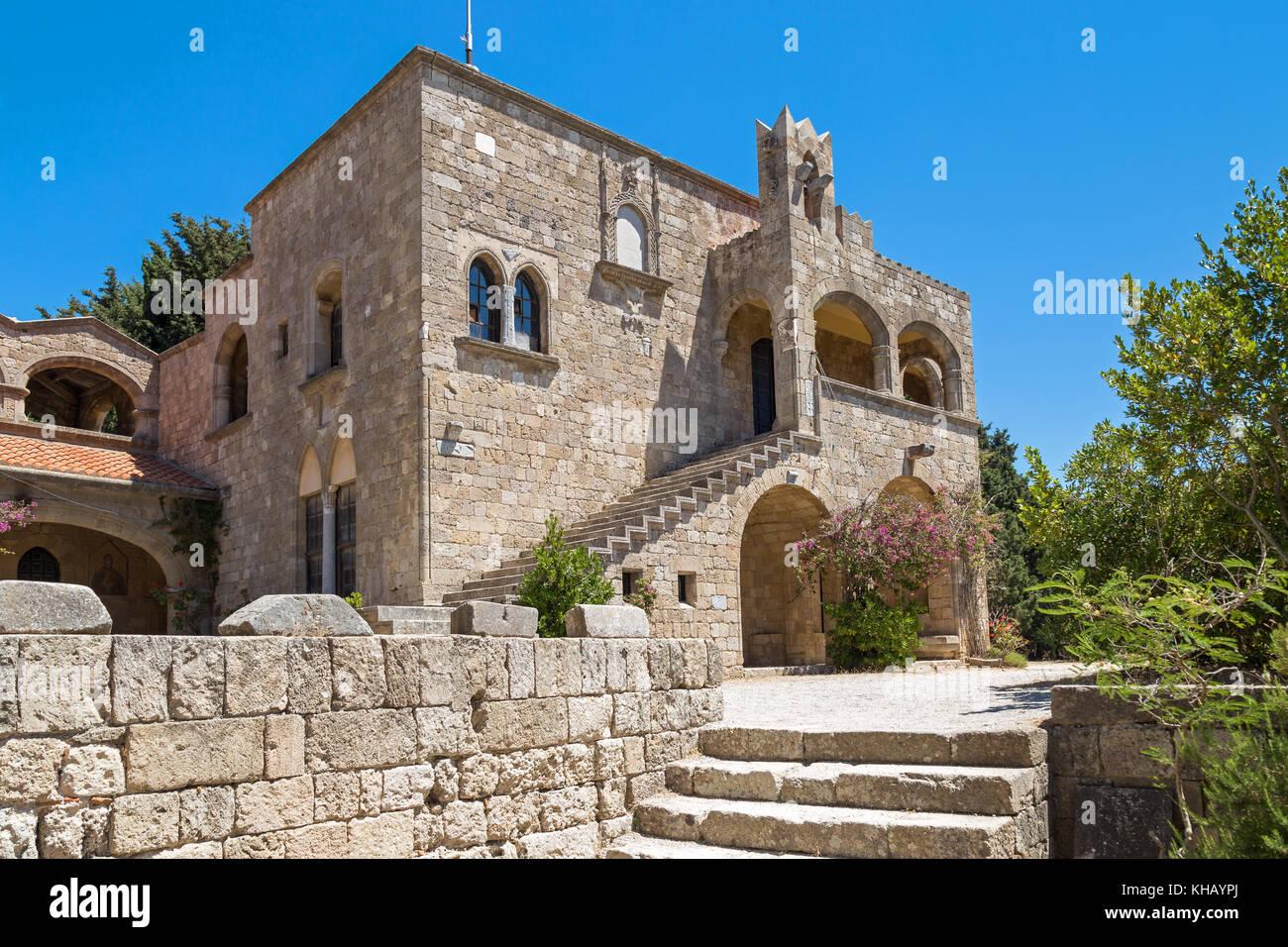 Monastery on Filerimos, Rhodes, Greece - Stock Image