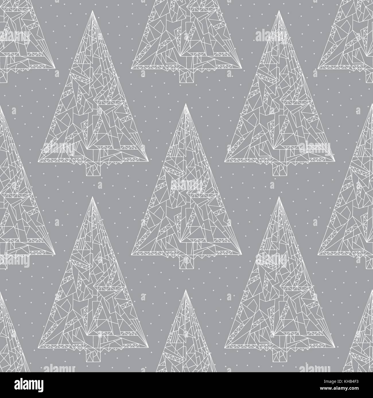 christmas trees pattern abstract xmas pastel colors seamless background KHB4F3