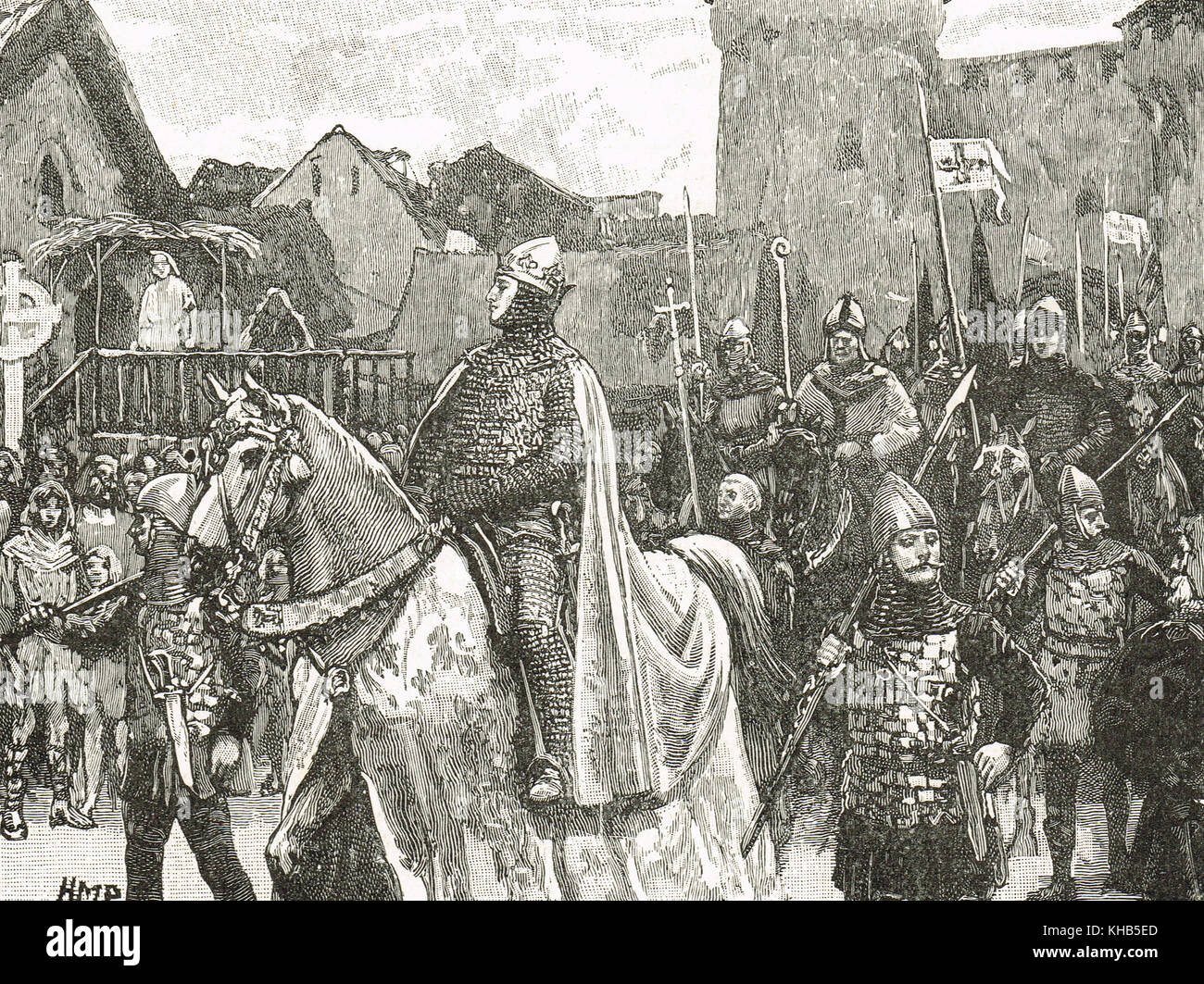 William the Conqueror entering London, December 1066 Stock Photo