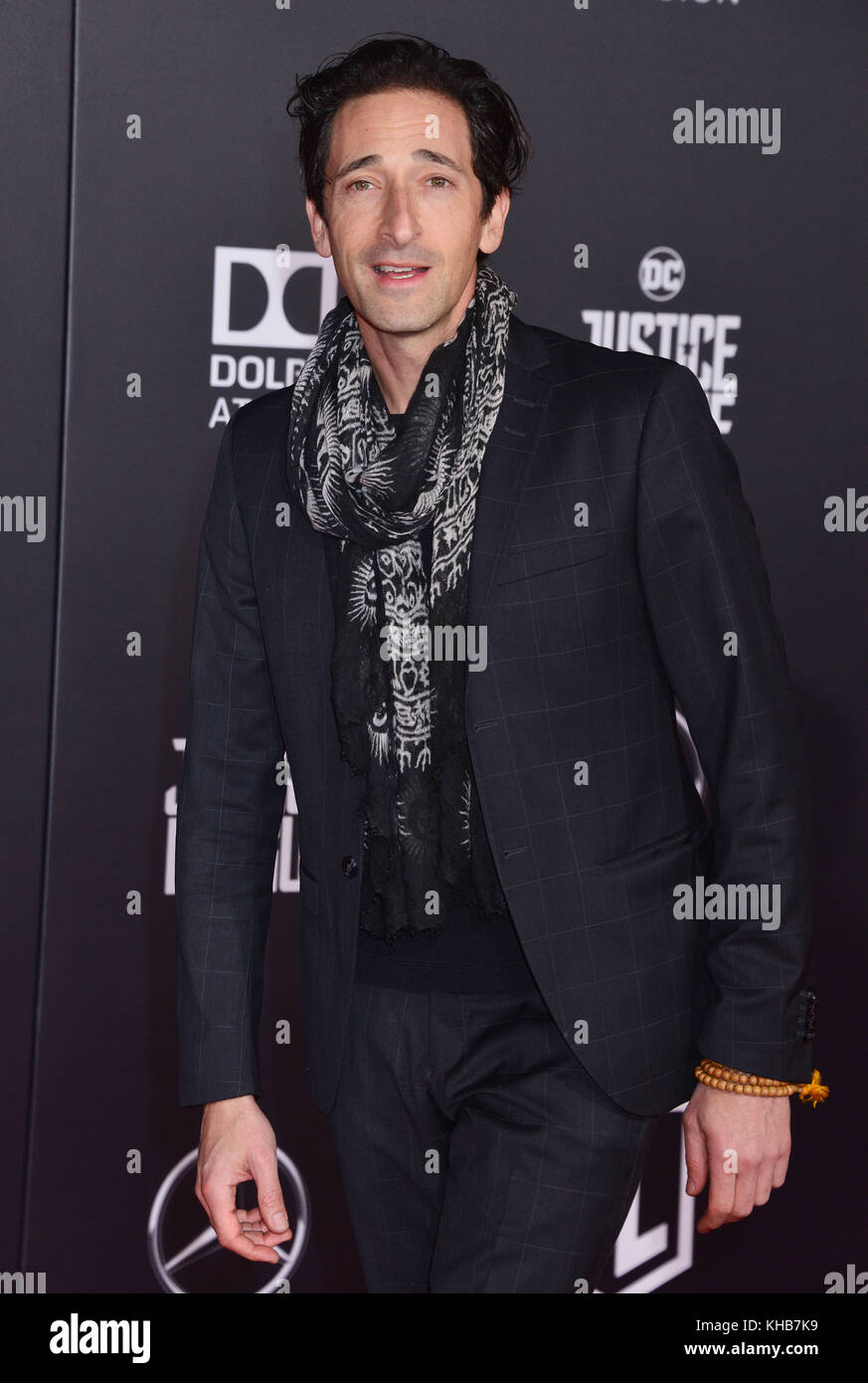 Adrien Brody 144 attend the premiere of Warner Bros. Pictures' 'Justice League' at Dolby Theatre on - Stock Image