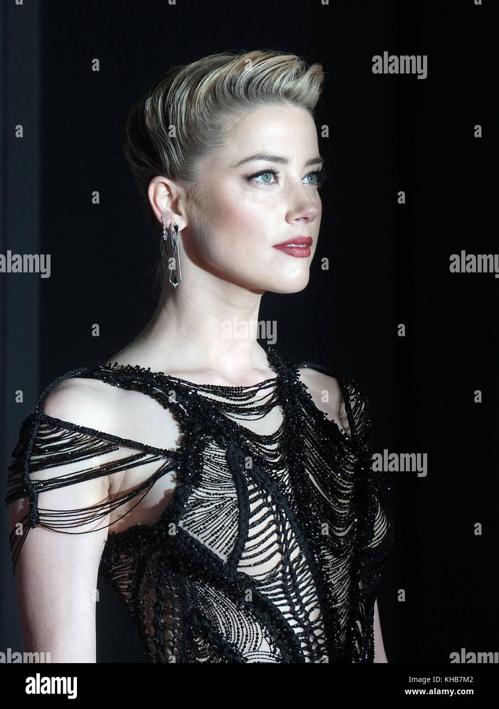 Amber Heart  attend the premiere of Warner Bros. Pictures' 'Justice League' at Dolby Theatre on November - Stock Image