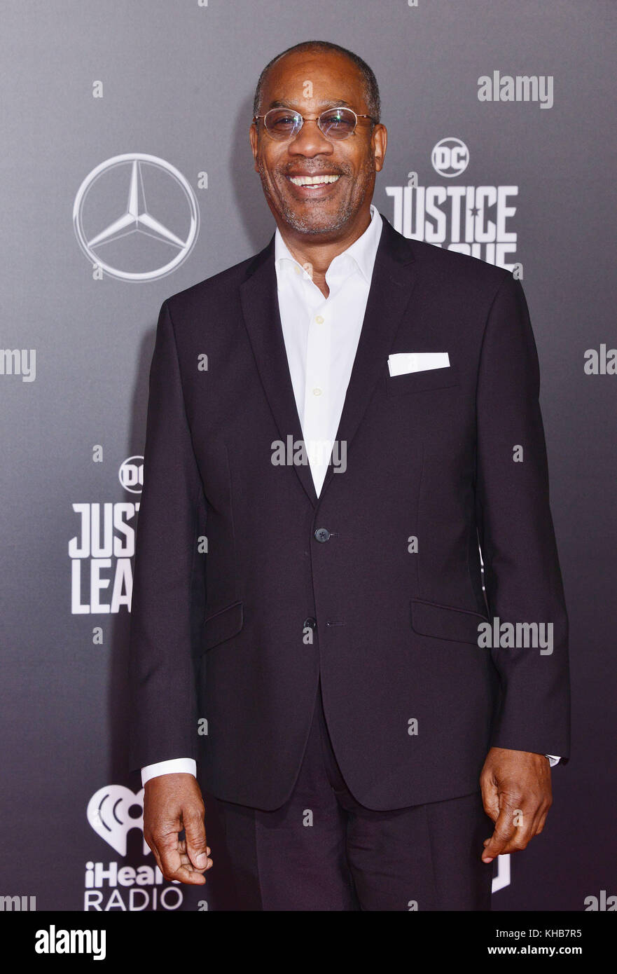 Joe Morton  attend the premiere of Warner Bros. Pictures' 'Justice League' at Dolby Theatre on November - Stock Image