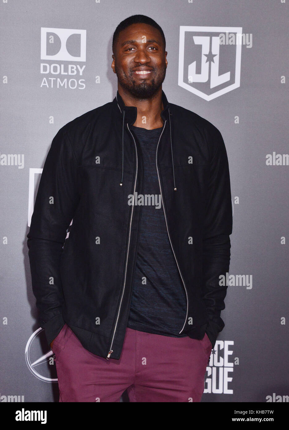 Roy Hibbert  attend the premiere of Warner Bros. Pictures' 'Justice League' at Dolby Theatre on November - Stock Image