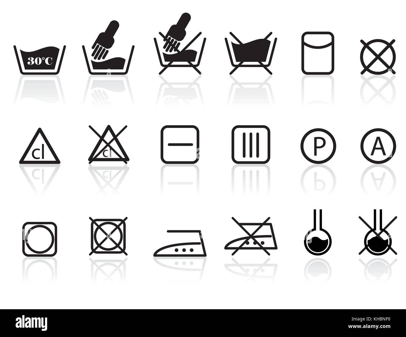 Laundry care label stock photos laundry care label stock images laundry and textile care symbols vector icon set stock image buycottarizona Gallery