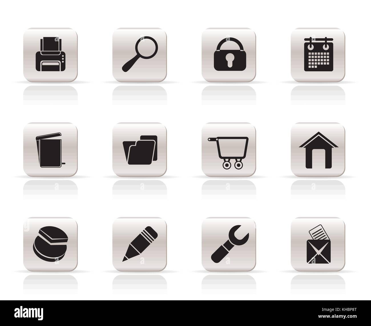 website, internet and computer icons - vector icon set - Stock Image