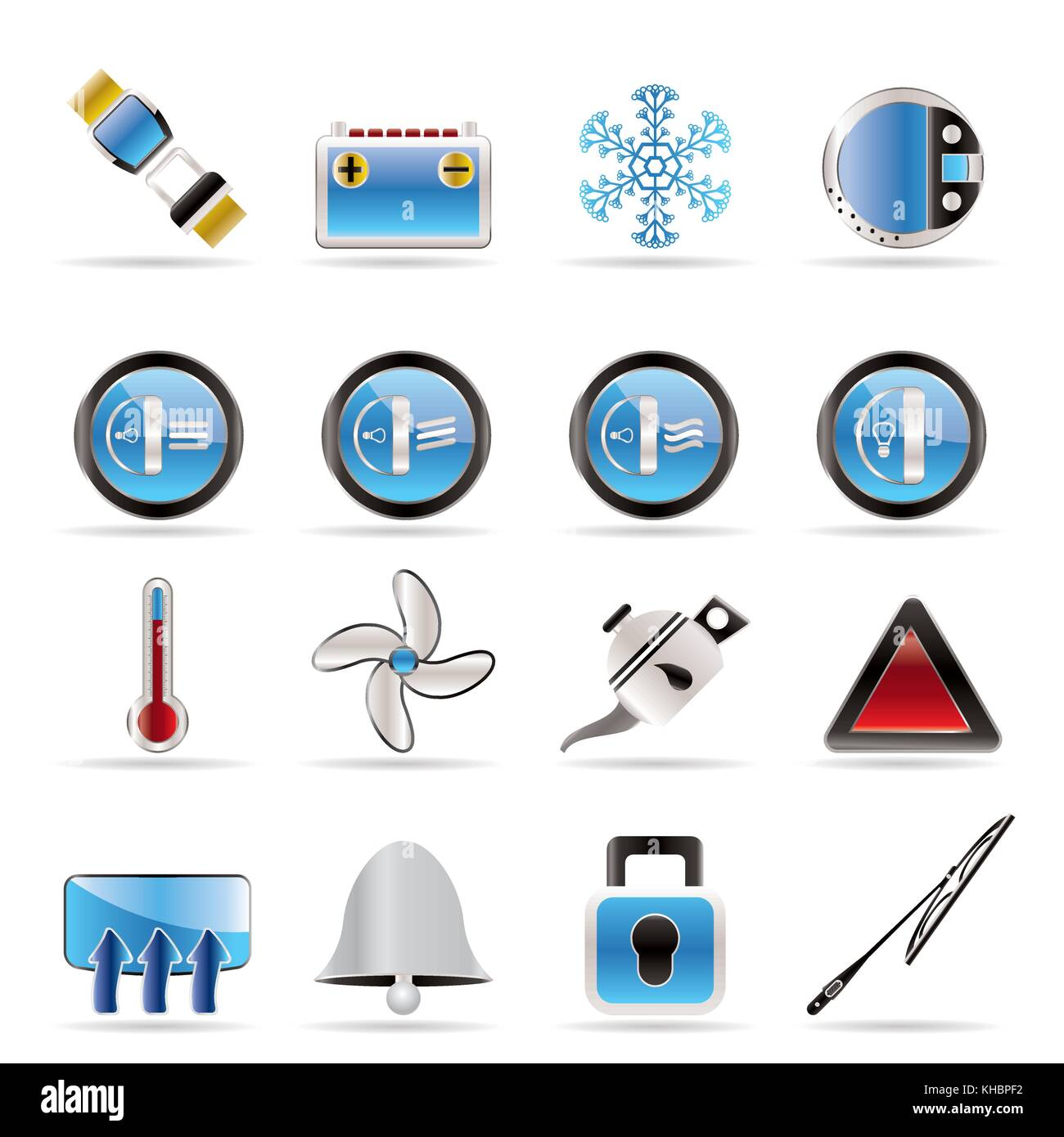 Car Dashboard Icons Stock Photos Images Diagram Realistic Vector Set Image