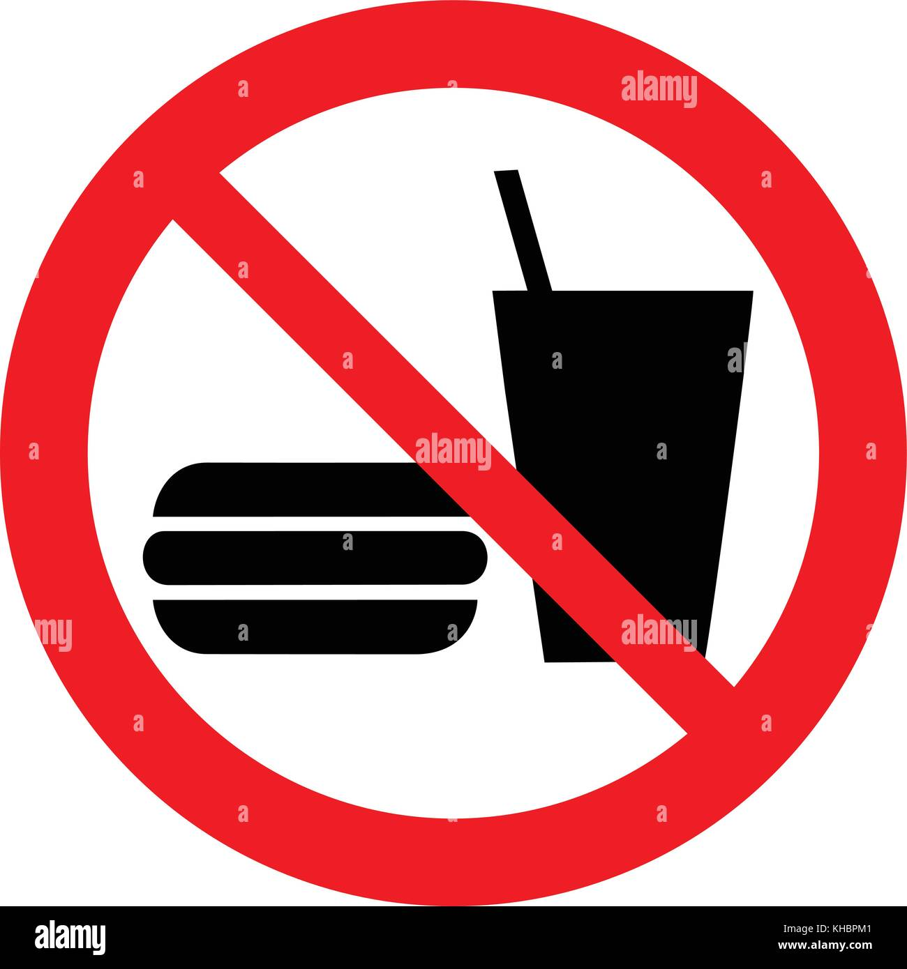No Eating Or Drinking Vector