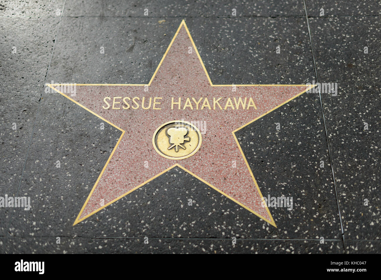 HOLLYWOOD, CA - DECEMBER 06: Sessue Hayakawa star on the Hollywood Walk of Fame in Hollywood, California on Dec. - Stock Image