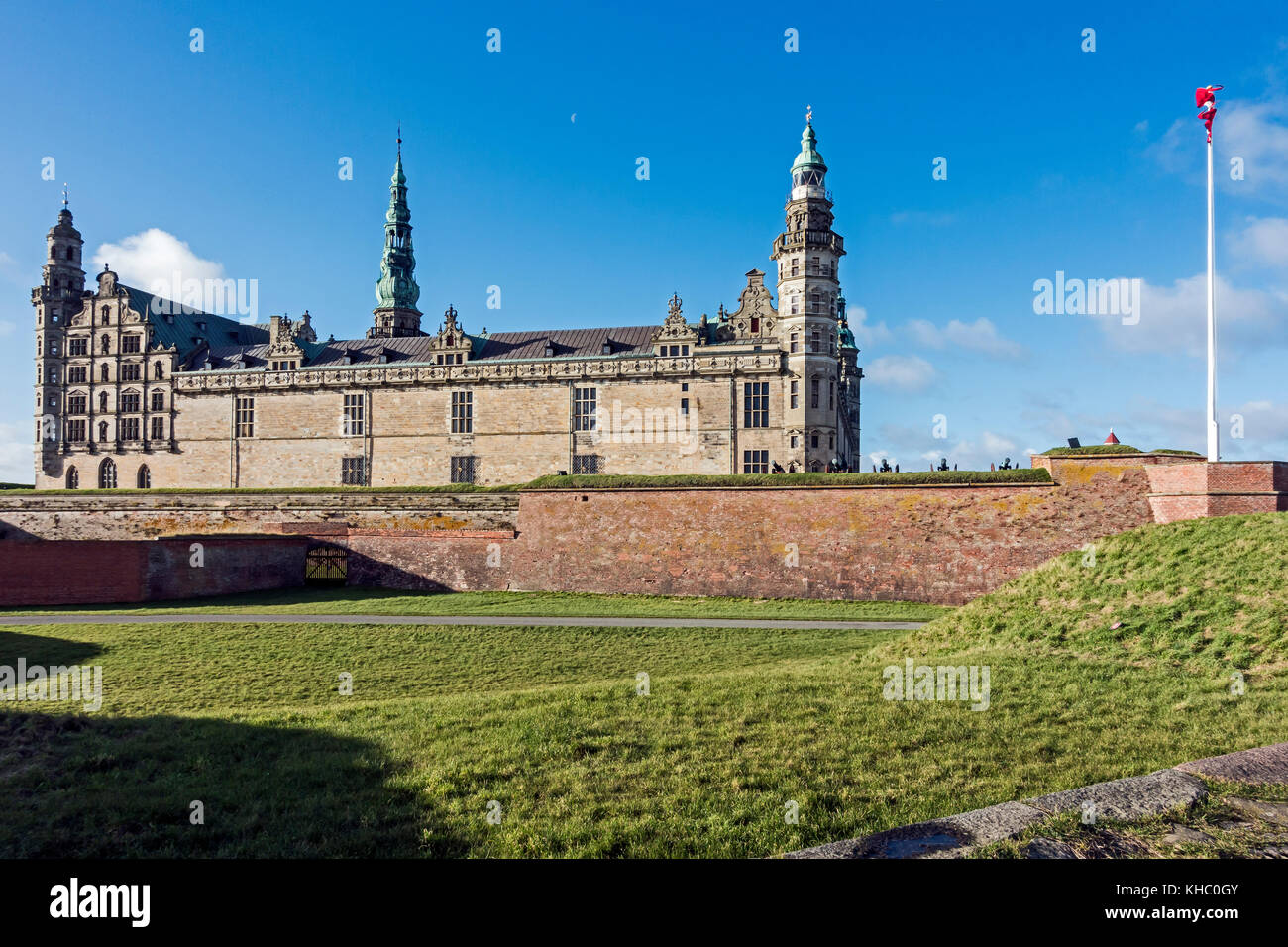 Kronborg Slot (Castle) in Elsinore Denmark Europe - Stock Image