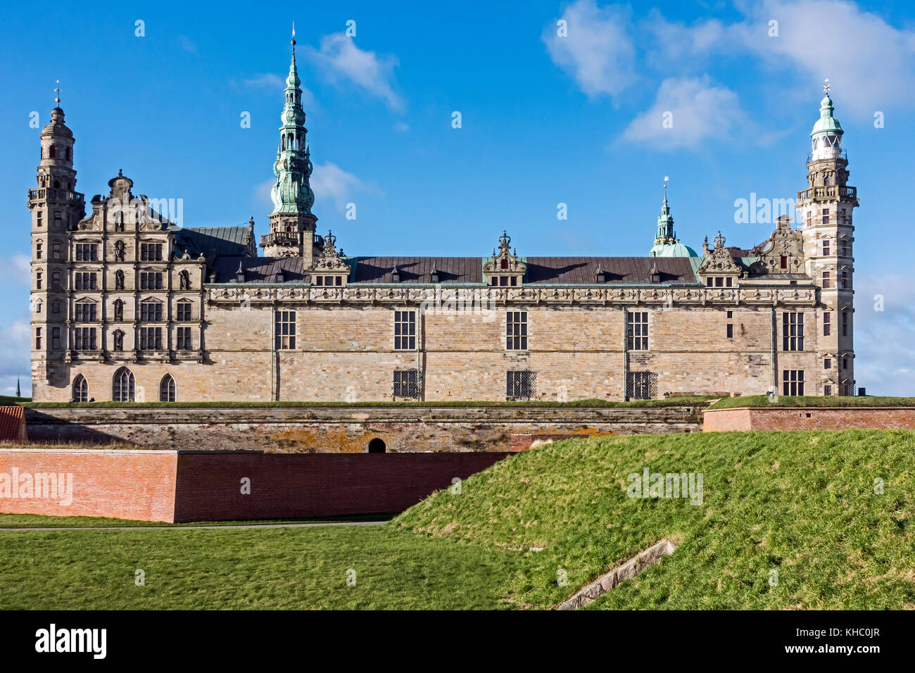 Kronborg Slot (Castle) in Elsinore Denmark Europe - Stock Image