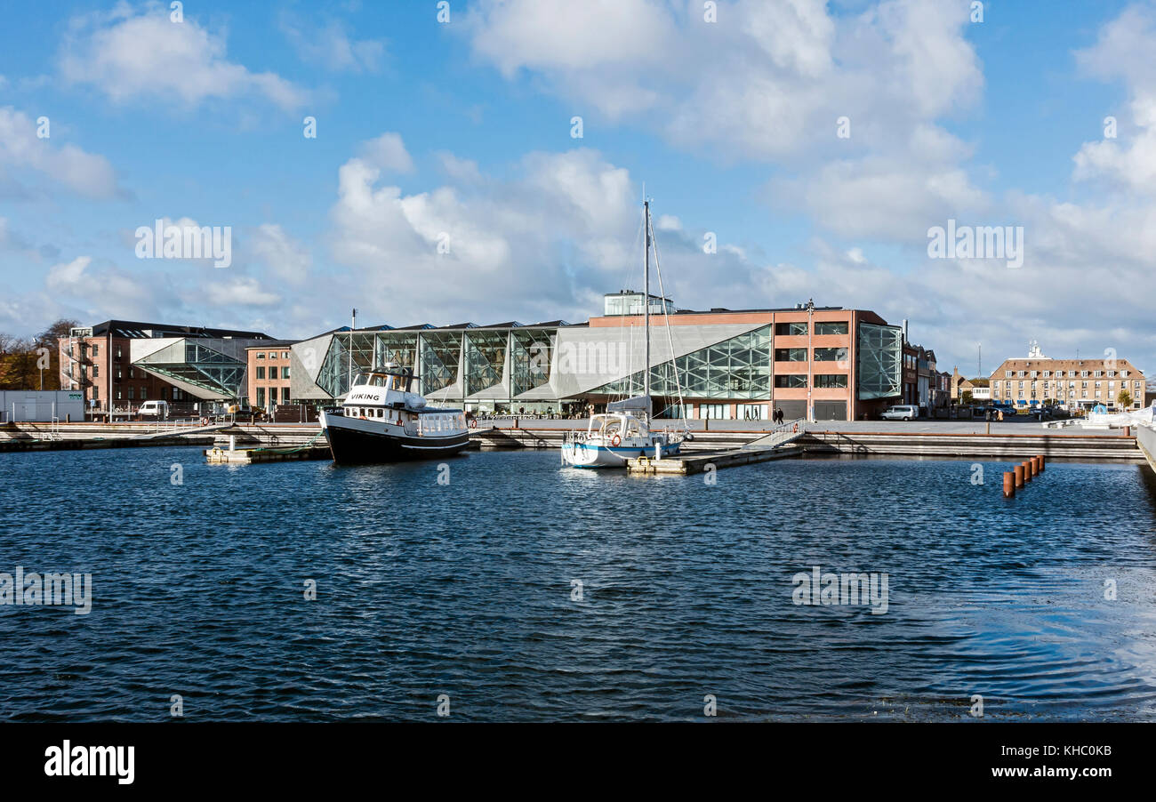 Kulturvaerftet og Bibliotek (The Culture Yard and Library) on the waterfront in Elsinore Denmark Stock Photo