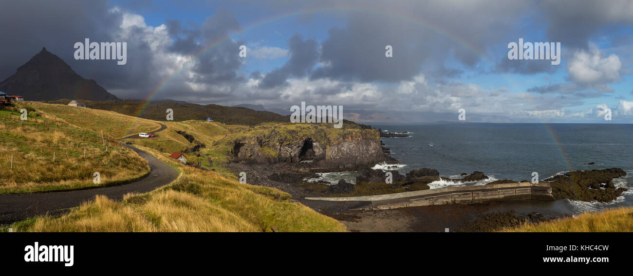 Hellnar village on the Snæfellsnes Peninsula in west Iceland. Stock Photo