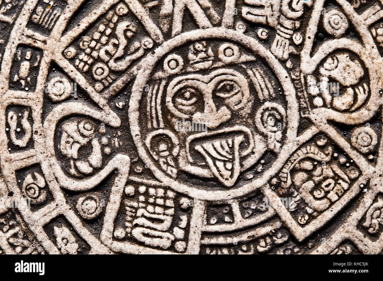 Aztec Calendar Stone.The Aztec Calendar Stone Stock Photos The Aztec Calendar Stone