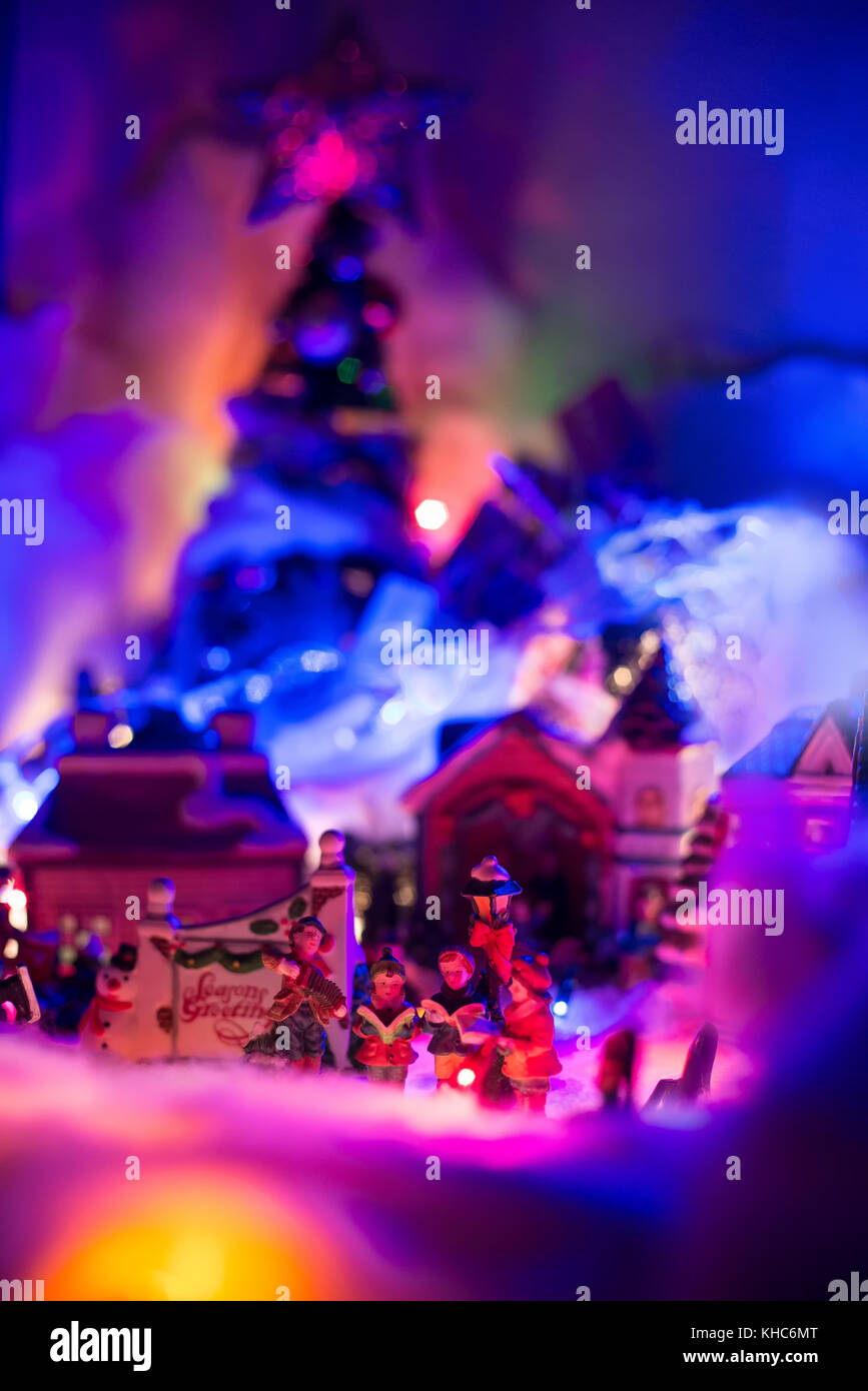 Colorful Christmas Background For Kids.Seasons Greeting With Kids Singing Gospel With Colorful