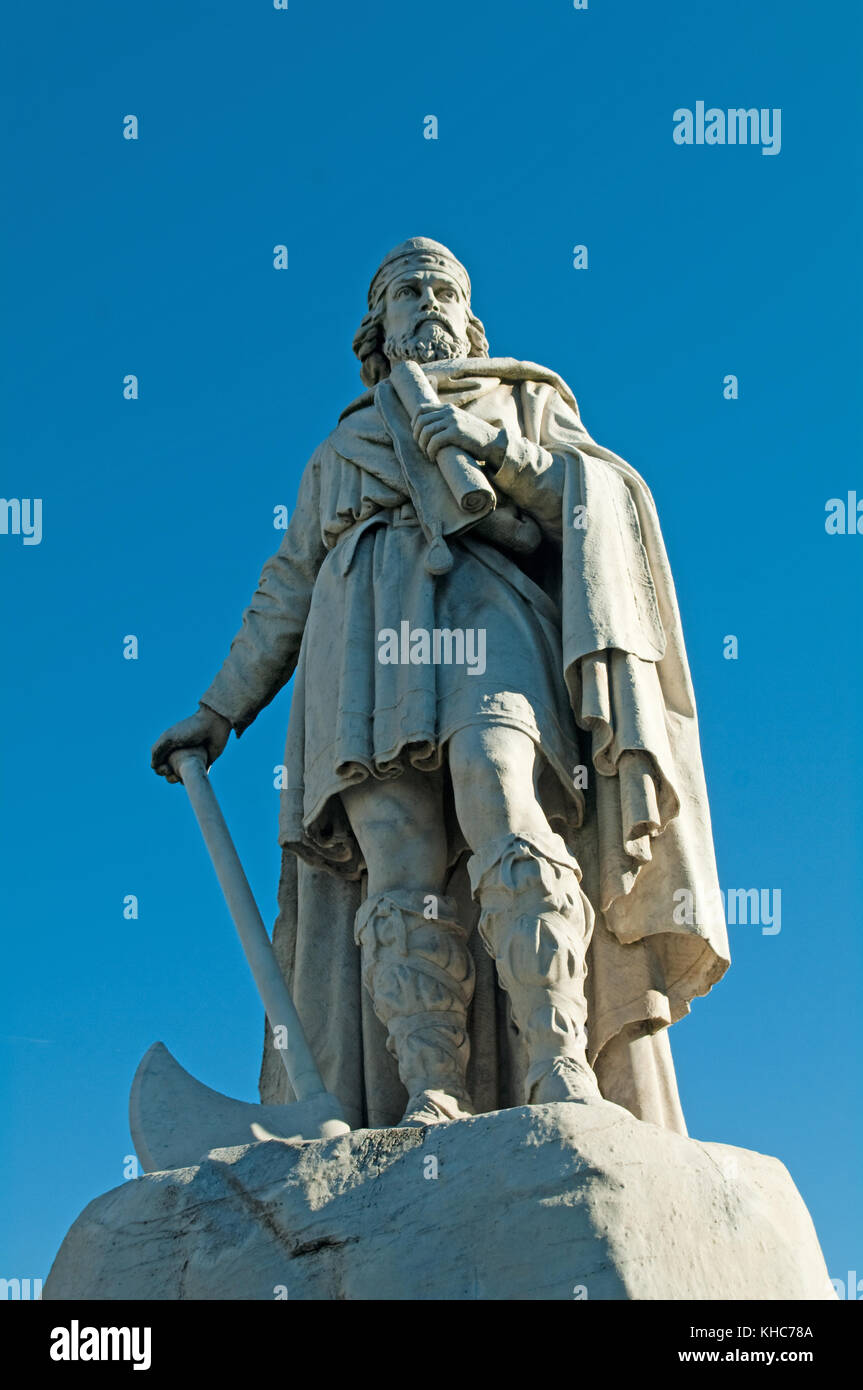 Wantage, Alfred the Great, Saxon King Born here in 849 Oxfordshire, - Stock Image